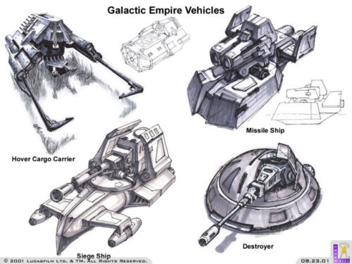 galactic empire vehicles